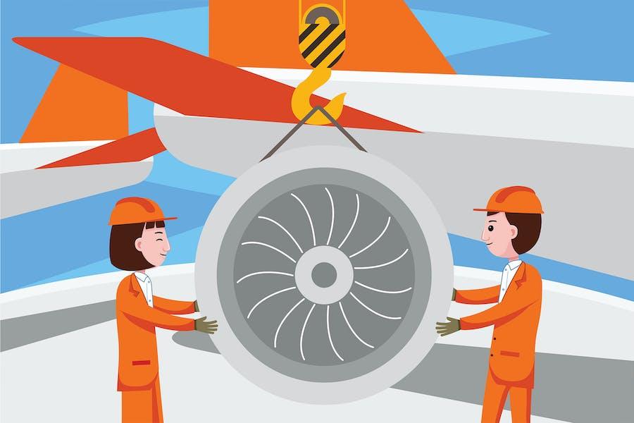 Flugzeug-Ingenieur-Beruf