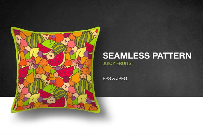 Cover Image For Juicy Fruits Seamless Pattern
