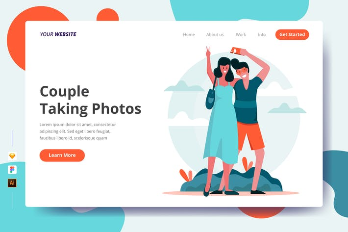 Thumbnail for Couple Taking Photos - Landing Page
