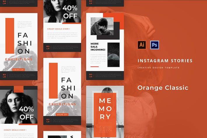 Klassische Mode Orange Instagram Story