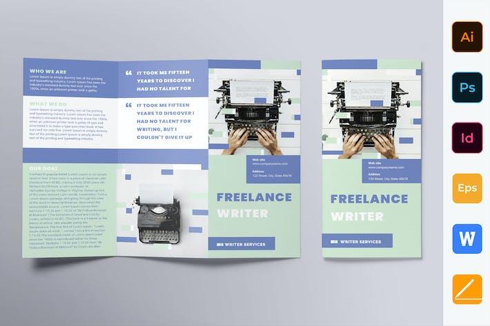 Thumbnail for Freelance Writer Brochure Trifold