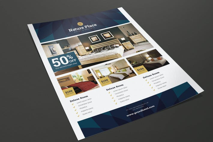 Thumbnail for Modern Clean Hotel Flyer