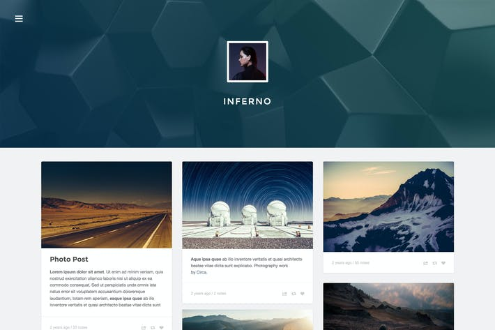 Thumbnail for Inferno - Responsive Header Theme