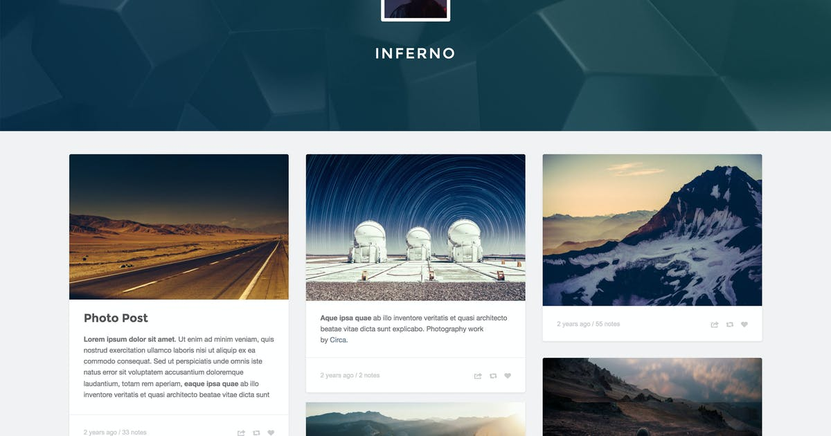 Download Inferno - Responsive Header Theme by thejenyuan