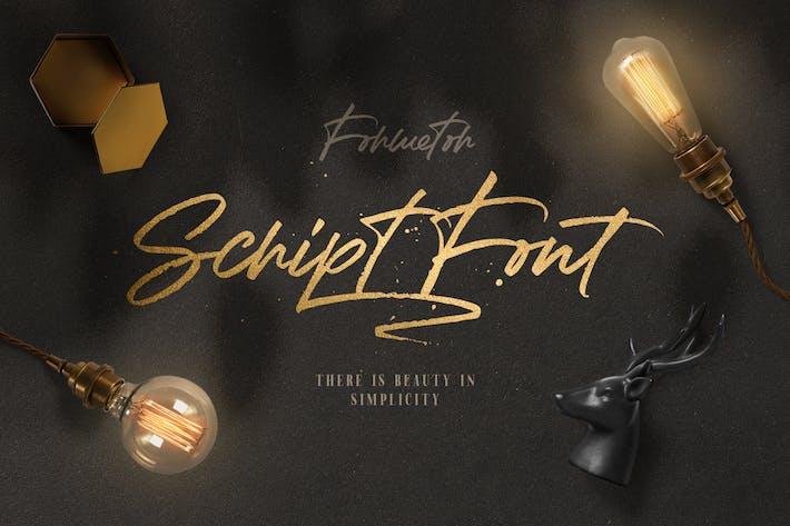 Thumbnail for Formetor Script font!