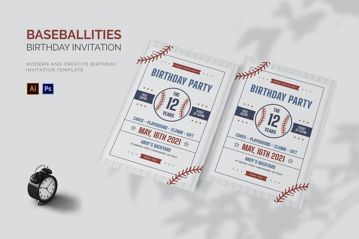 Thumbnail for Baseballities - Invitation d'anniversaire