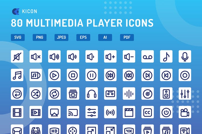 Thumbnail for Kicon - Multimedia-Player-Icons
