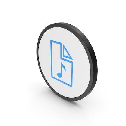Icon Audio File Blue