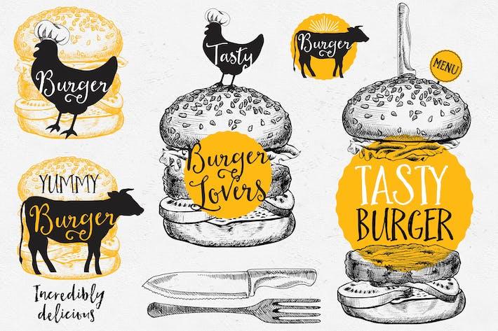 Burger Food Elements
