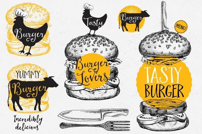 Thumbnail for Elementos de Comida hamburguesas