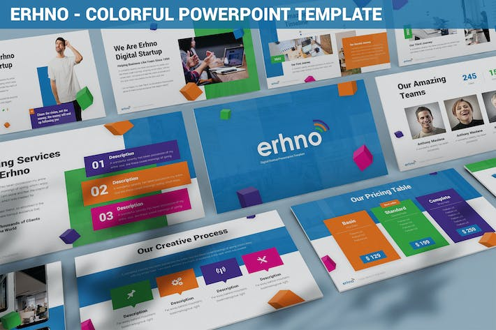 Thumbnail for Erhno - Colorful Powerpoint Template
