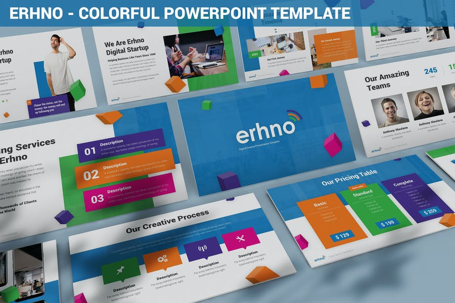 Erhno - Colorful Powerpoint Template