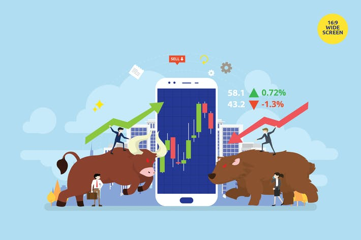 Thumbnail for Stock Exchange Market Vector Concept Illustration