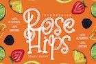 Rose Hips | Decorative Fruit Font