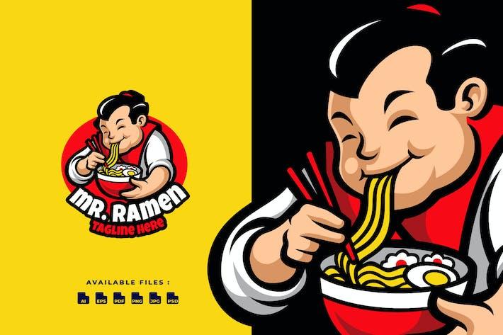 Thumbnail for Herr Ramen Cartoon Logo