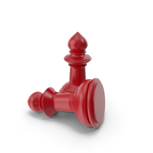 Chess Pawn Red