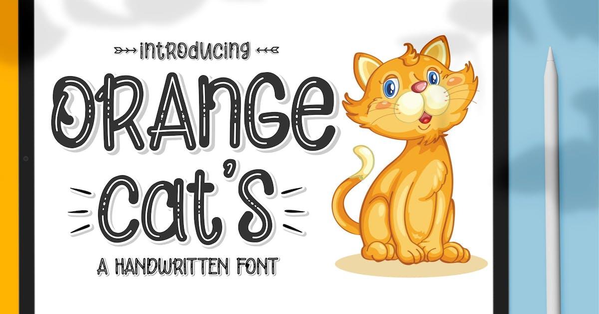 Download Orange Cat's Display Font by axelartstudio