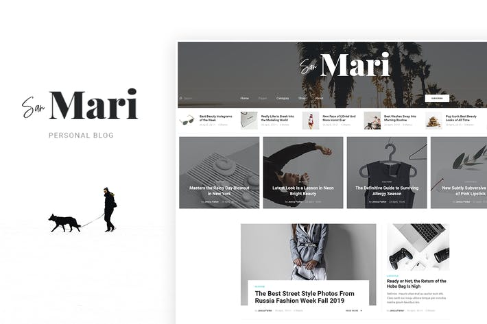 Thumbnail for San Mari - Blog PSD Template