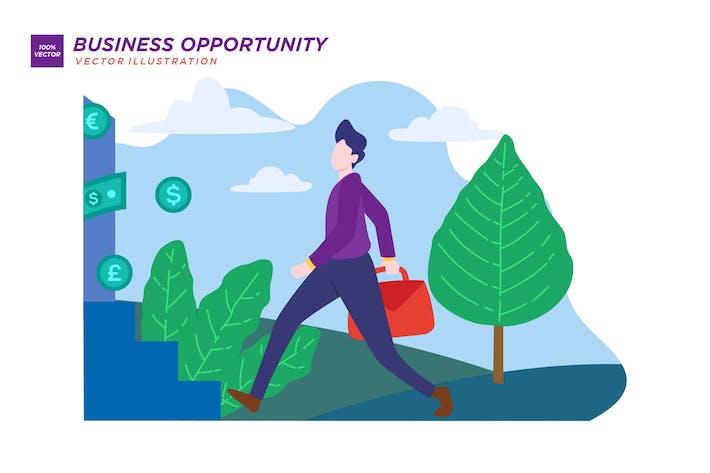 Thumbnail for Flache Abbildung der Geschäftsgelegenheit