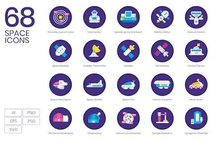 68 Flache Icons