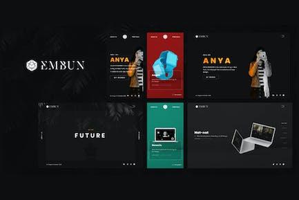 Embun - Portfolio Showcase HTML-Vorlage
