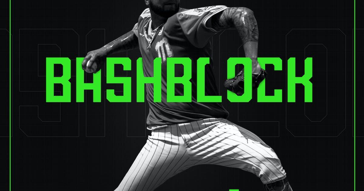 Download BashBlock Script Font by ovozdigital