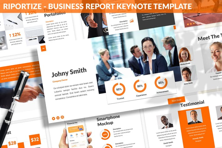Thumbnail for Riportize - Business Report Keynote Template