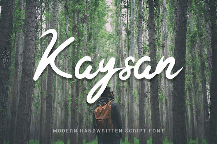 Thumbnail for Kaysan - Modern Handwritten Script Font