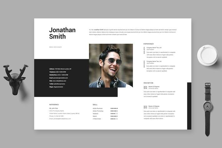Thumbnail for Clean Minimal Resume / Cv Template 28