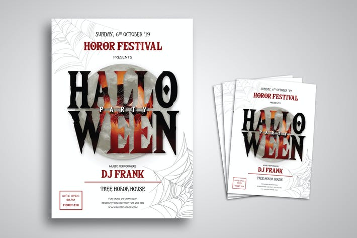 Thumbnail for Halloween Party Flyer Promo Template