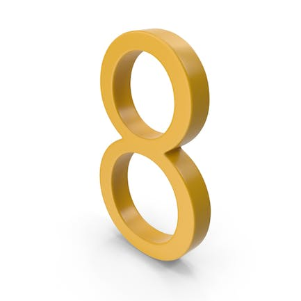 Number 8 Yellow