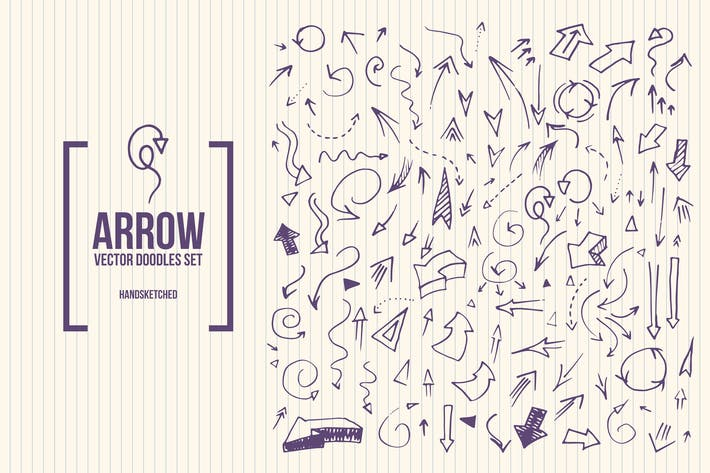 Thumbnail for Doodle Arrows Vector Set