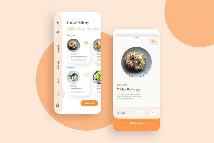 Thumbnail for Food And Deliverry UI Basic - TG