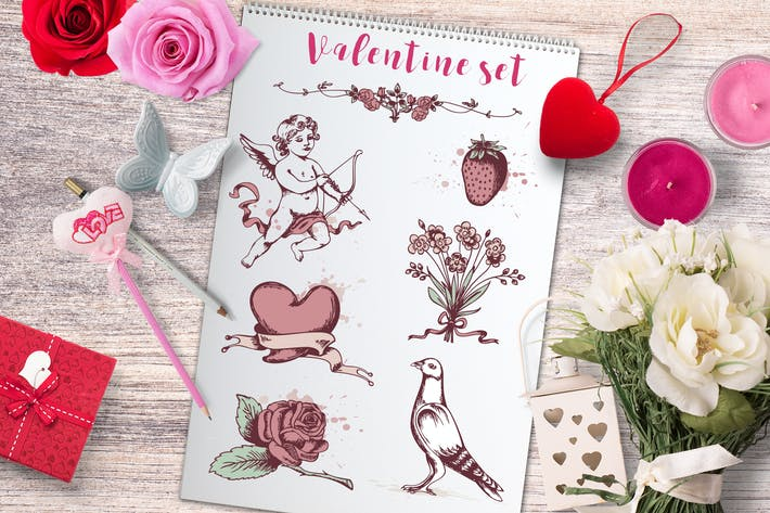 Thumbnail for Valentine's Vintage Elements