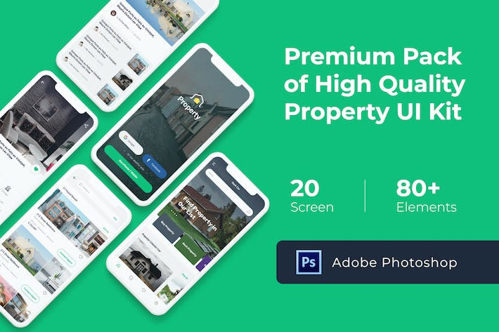 Property Mobile UI KIT for Photoshop