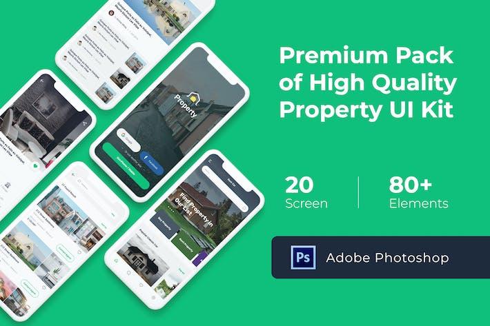 Thumbnail for Property Mobile UI KIT für Photoshop