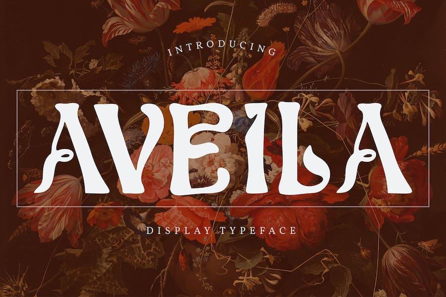 Aveila   Display Typeface