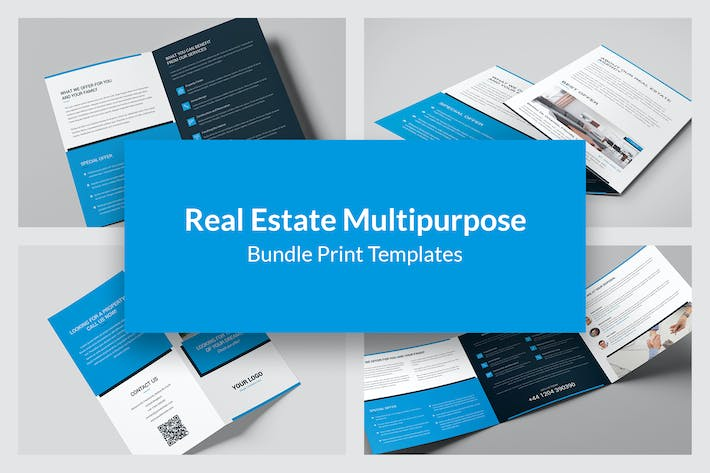 Thumbnail for Real Estate – Bundle Print Templates 6 in 1