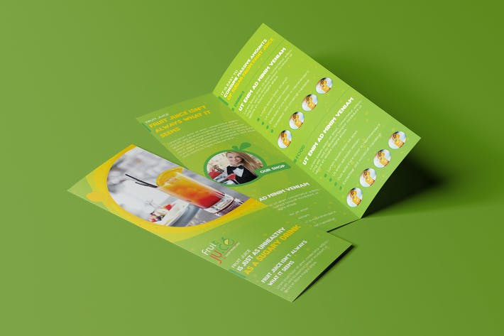 Cover Image For Fruit Juice Shop/ Take-out Brochure and Mini Menu