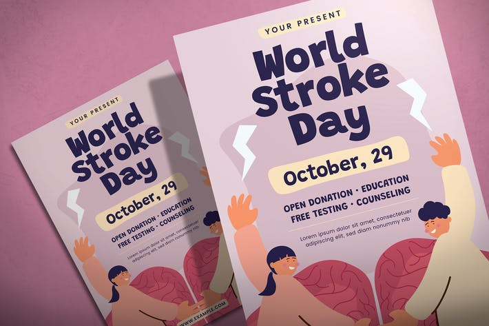 Thumbnail for World Stroke Day - Flyer Template