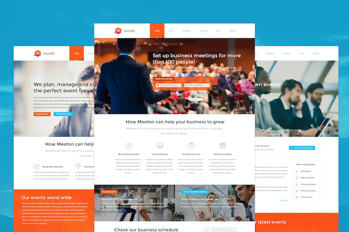 Cover Image For Meeton - Conference & Event PSD Template