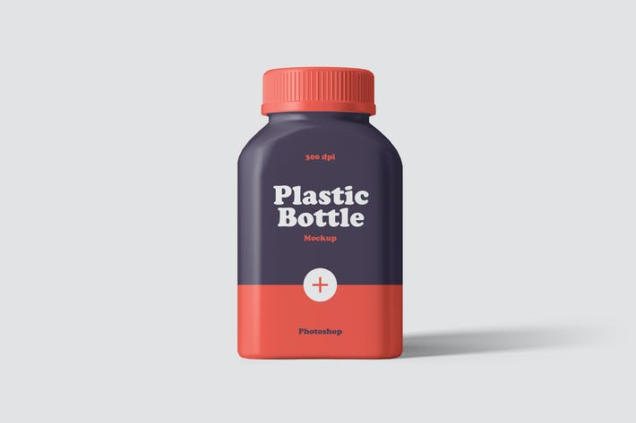 Thumbnail for Plastic Pill Bottle Mockup