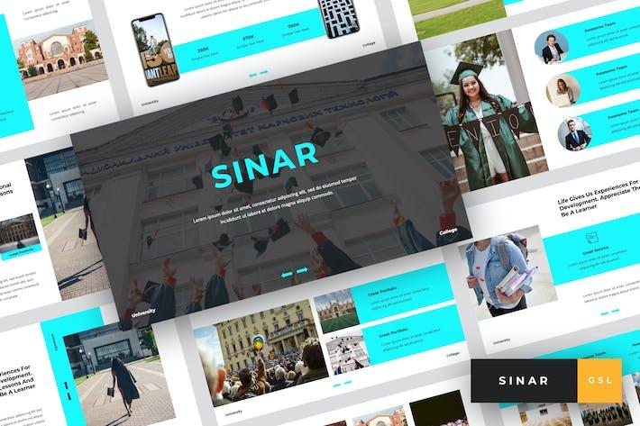 Thumbnail for Sinar - University Google Slides Template