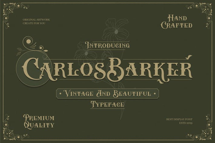 Thumbnail for Carlos Barker - Vintage Victorian Font