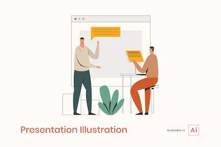 Präsentation Illustration