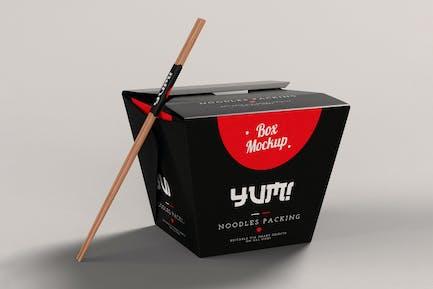 Noodles Pack Box Mock-Up