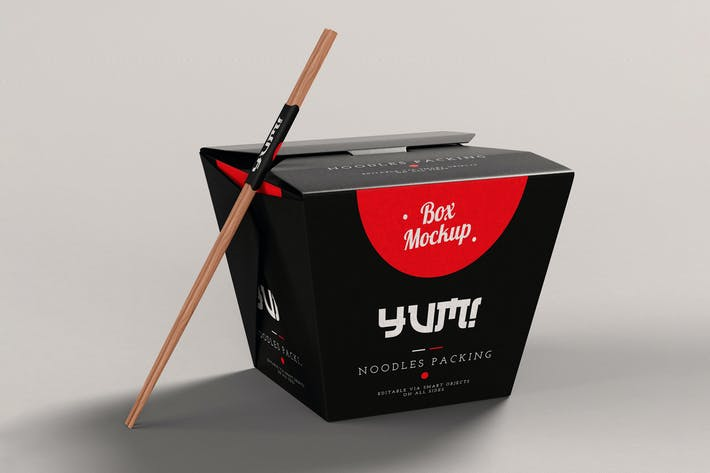 Thumbnail for Noodles Pack Box Mock-Up