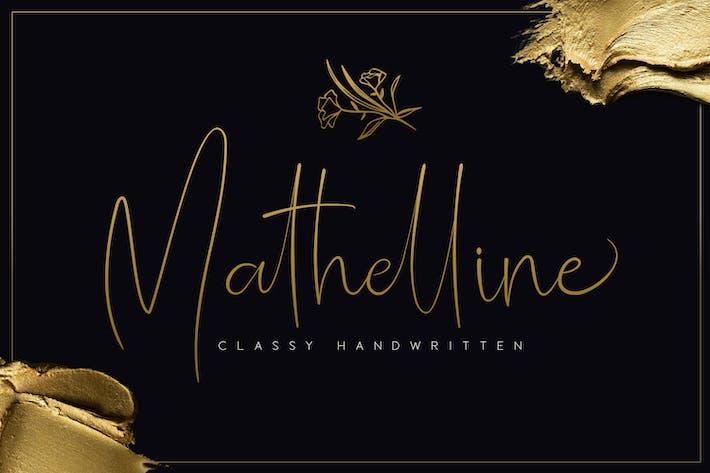 Thumbnail for Mathelline - Escrito a mano con clase