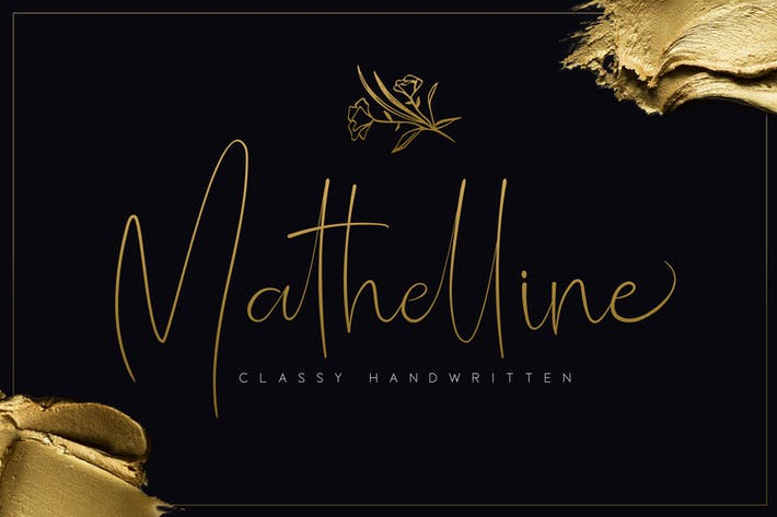 Thumbnail for Mathelline - Classy Handwritten