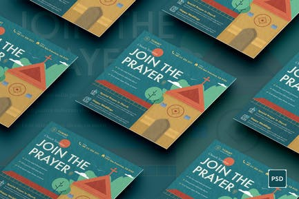 Church Square Flyer PSD Template